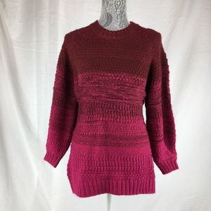 Isabel Maternity S Red Pink Ombré Sweater